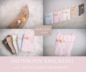 Image of Newborn Knickers {with detachable headband}