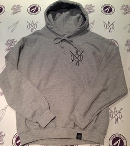 Image of AONO LOGO HOOD PULLOVER Sports Grey