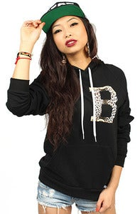 Image of Gianni B Leopard Hoodie Women's