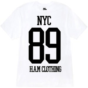 Image of NYC 89 - V-Neck Weiß - Mann