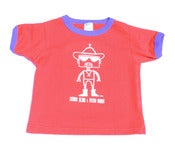 Image of Chingo Robot tee for toddlers (Red, white and blue)