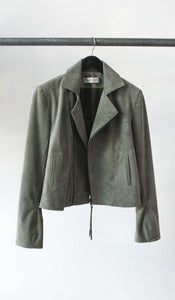 Image of MOTO suede jacket