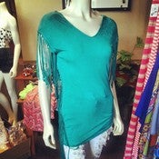 Image of Fringe V Neck Top 