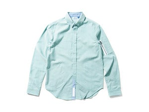 "Image of DeMarcoLab ""MA-1 OXFORD B.D SHIRT"" / Green"