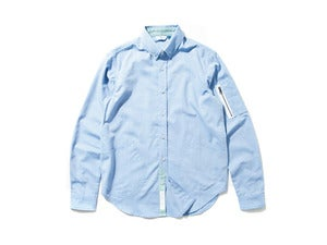 "Image of DeMarcoLab ""MA-1 OXFORD B.D SHIRT"" / Blue"