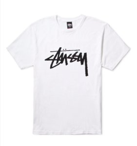 Image of STUSSY White Stock Tee Shirt
