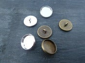 Image of Button Blanks for Glass or Stickers, 12mm, 16mm and 20mm