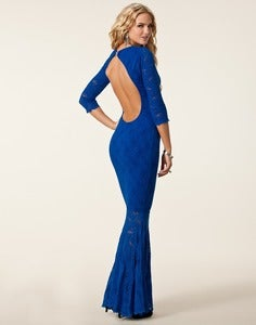 Image of Honor Gold Blue Lisa Maxi Lace Dress