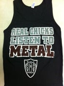 "Image of Real Chicks Listen To Metal ""Wifebeater"" Style Tanktop"