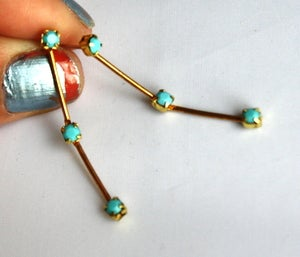 Image of Turquoise and Brass Dangles