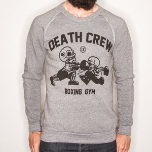Image of 13s_12 GUYS DEATHCREW BOXING GYM CREWNECK SWEATSHIRT