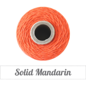 Image of Solid Mandarin Twine Spool - 240 yards