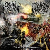 Image of CRANIAL IMPALEMENT / NECROPTIC ENGORGEMENT SPLIT CD