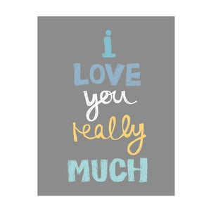 Image of Love you really much (boys) Art Print