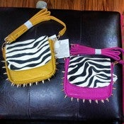 Image of Spiked Zebra Crossbody 