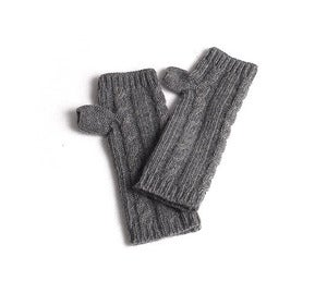 Image of Fingerless Knit Gloves