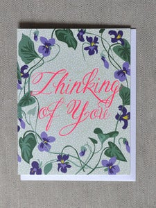 "Image of ""Thinking of You"" Violets Note Card"