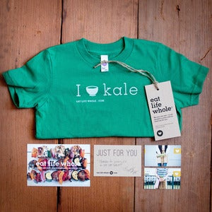 Image of Kids (I love kale) Tee (Green)