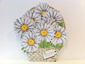 Image of VINTAGE DAISY COASTERS SET OF 8