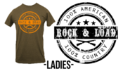 Image of Ladies' - Pre-Order - 100% American, 100% Country shirt