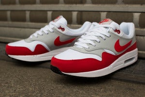 Image of Nike - Air Max 1 (GS) (white/red)