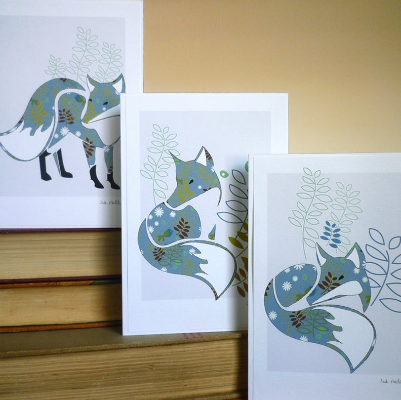 Image of Set Of Six Fox Greeting Cards