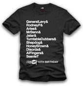 Image of 10th Birthday Tshirt BLK