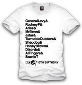 Image of 10th Birthday Tshirt WHT