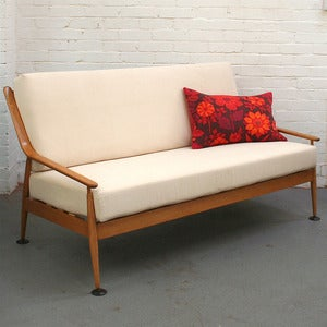 Image of Vintage 3 Seater Wooden Frame Sofa (Bespoke)