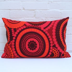 Image of Large Rectangular Cushion in Vintage Bright Dots