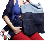 Image of REWEAR NYC Recycled Denim Nursing Blanket