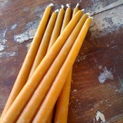 "Image of 12"" Beeswax Tapers"