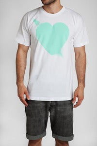 Image of Breaking Hearts T-Shirt Wht/Mnt