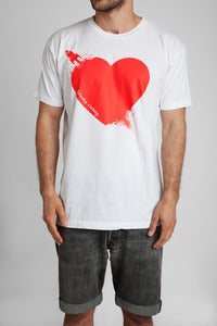 Image of Breaking Hearts T-Shirt Wht/Red