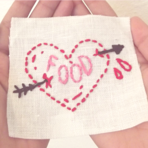 "Image of ""Food"" Heart Patch"