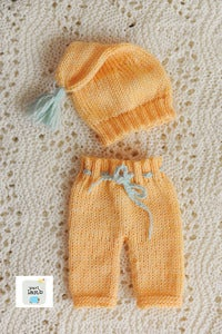 Image of Orange Goodnight Cap and Pant Set
