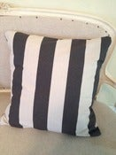 Image of Large Striped Pillow Cover