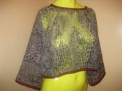 Image of sheer gray animal print top