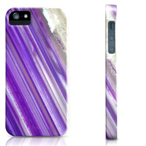Image of Purple Agate Stripe Cell Phone Case