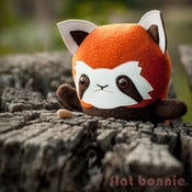 "Image of Flat Rooney the Red Panda (Classic 10"" tall)"