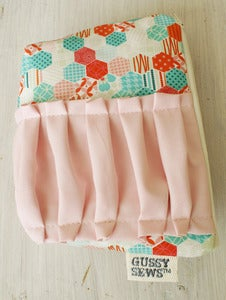 Image of Teal + Pink Hexi's large zip pouch