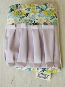 Image of Lavender Flowers large zip pouch