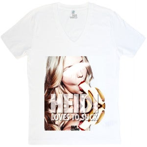 Image of Heidi Sucks - V-Neck Weiß - Mann