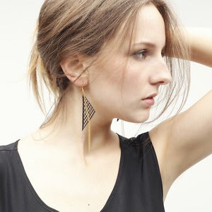 Image of Triancle Lace Earrings &quot;Ice&quot;