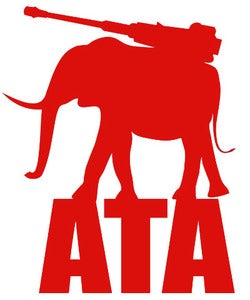 Image of Accessory | Iron Tusk | Large Vinyl Decal | Red