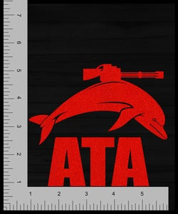 Image of Accessory | Battlenose Dolphin | Large Vinyl Decal | Red