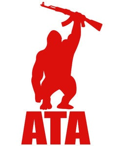Image of Accessory | Gorilla Logo | Large Vinyl Decal | Red
