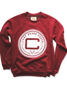Image of OLDS CREST CREWNECK SWEATSHIRT | TRI-RED