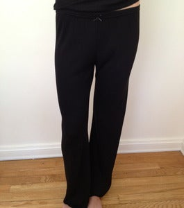 Image of Black Solid Knit ~ Pant