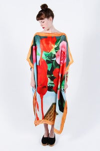 Image of Andrea Crews Silk Scarf Dress